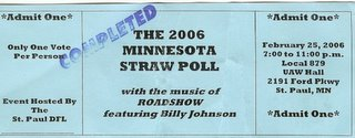 Saint Paul DFL Straw Poll Ticket