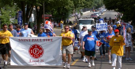 the DFL parade contingent