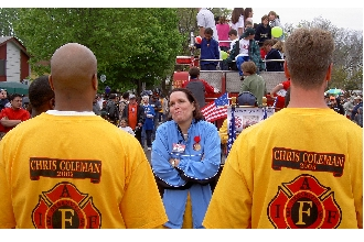 Betty McCollum and Firefighters